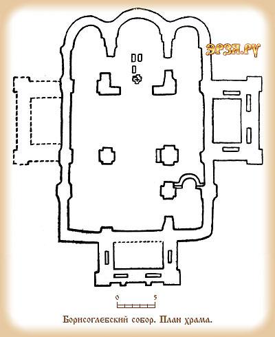 План Борисоглебской церкви в Рязани