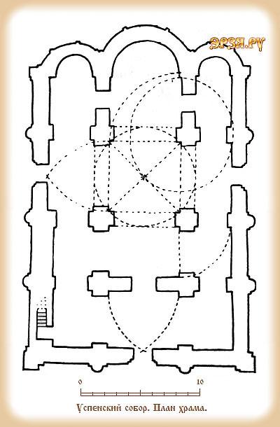 План Успенской церкви в Рязани